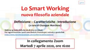 Invito Webinar Smart Working
